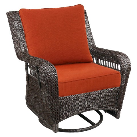 Madaga Wicker Patio Motion Club Chair - Orange - Threshold™