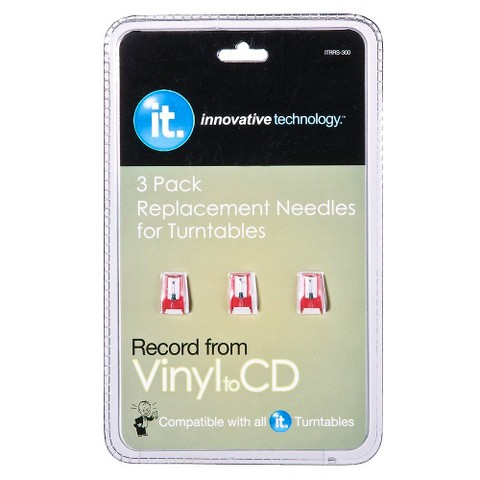 Innovative Technology Turntable Replacement Needles 3-pk.