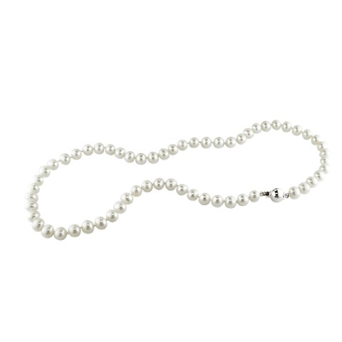 Allura  9-10mm Freshwater Pearl Necklace with Silver Ball Clasp