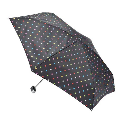 Totes Dots Purse Umbrella - Black
