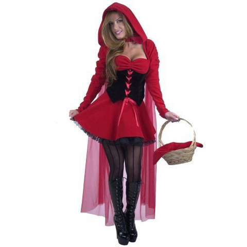 Women's Velvet Riding Hood Costume