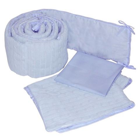 Tadpoles Cable Knit Cradle Set - Blue