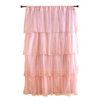 "Tadpoles Tulle Curtain Panel - Pink (63"")"