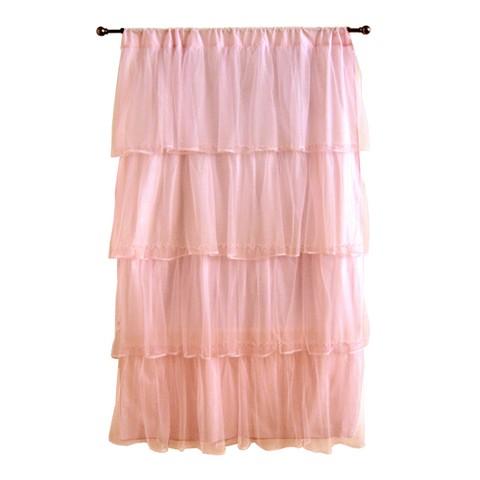 """Tadpoles Tulle Curtain Panel - Pink (63"""")"""