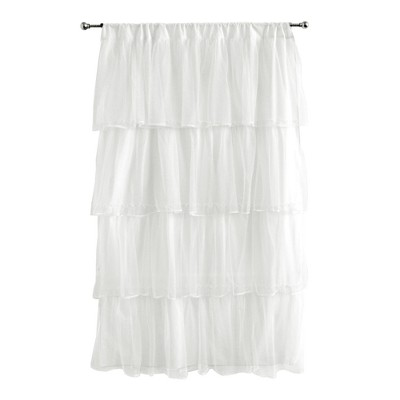 "Tadpoles Tulle Curtain Panel - White (63"")"