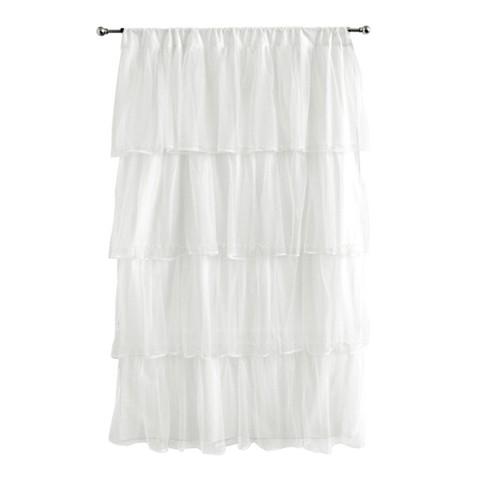 """Tadpoles Tulle Curtain Panel - White (63"""")"""