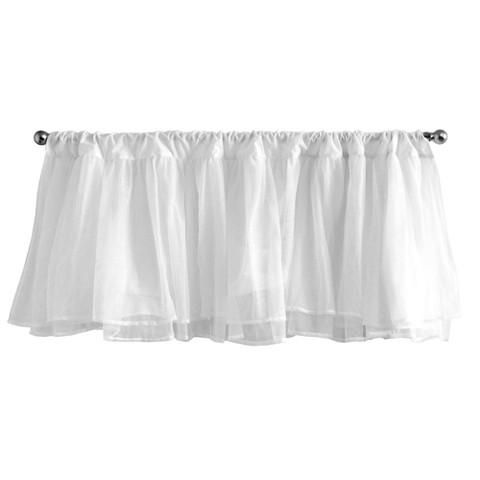 Tadpoles Tulle Window Valance - White