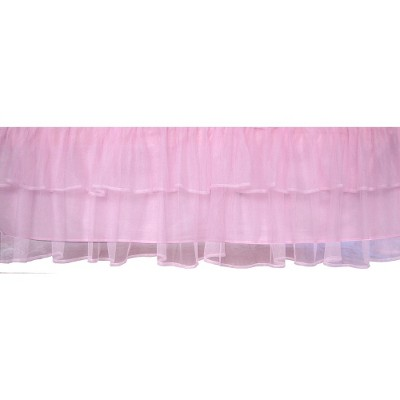 Tadpoles Triple Layer Tulle Crib Skirt - Pink
