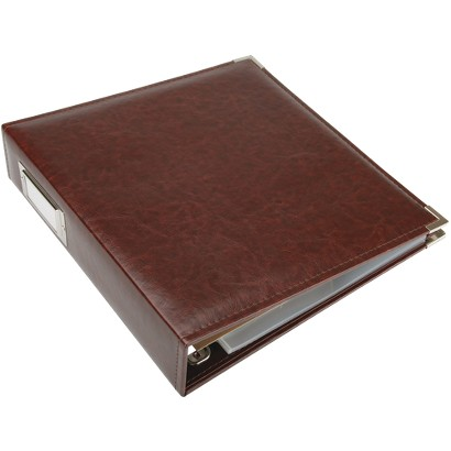 "Faux Leather 3-Ring Binder - Cinnamon (8.5x11"")"