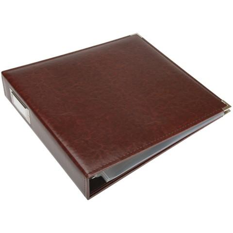 "Faux Leather 3-Ring Binder - Cinnamon (12x12"")"