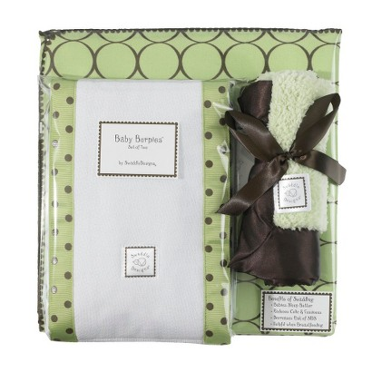 SwaddleDesigns Boxed Gift Set - Lime Mod Circles