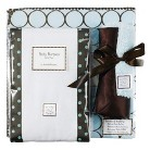SwaddleDesigns Boxed Gift Set - Light Blue Mod Circles