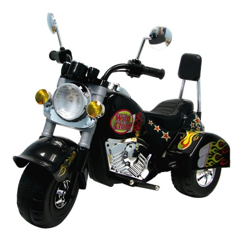 Harley Style Battery-Operated Motorcycle - Black