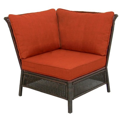 Threshold™ Madaga Wicker Patio Sectional Corner Chair - Orange
