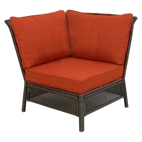 Threshold™ Madaga Wicker Patio Sectional Corner Chair - Orange