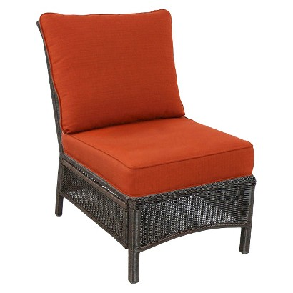 Threshold™ Madaga Wicker Patio Sectional Armless Chair - Orange