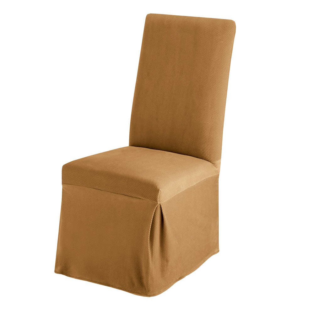 Sure Fit Stretch Pique Long Dining Room Chair Slipcover