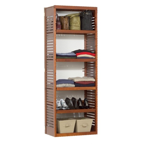 John Louis Home Deluxe Storage Tower - Red Mahogany