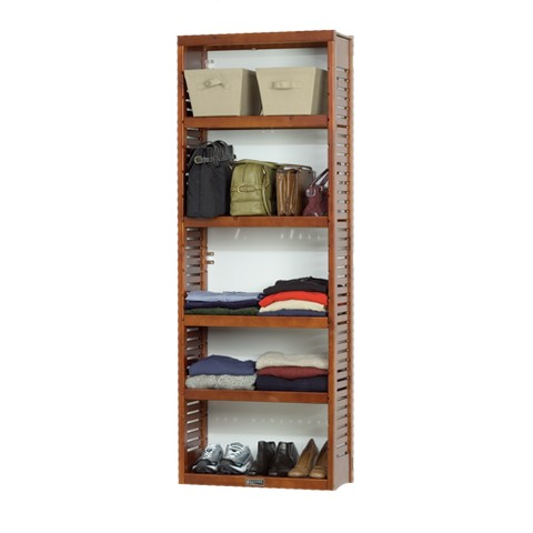 John Louis Home Standard Storage Tower - Red Mahogany