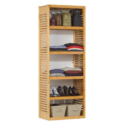 Standalone Deluxe Storage Tower - Honey Maple