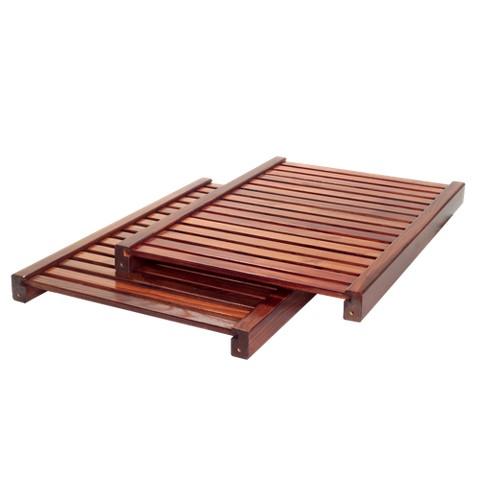 John Louis Home Adjustable Shelf Kit - Red Mahogany