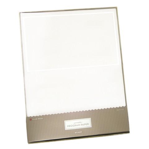 Program Paper - White Border