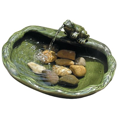 Smart Living Solar Frog Spouting Fountain