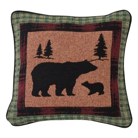 Bear Lodge Reversible Pillow - Bear