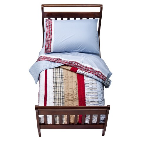 Bacati Aidan 4 Piece Bedding Set - Plaid Stipe (Toddler)