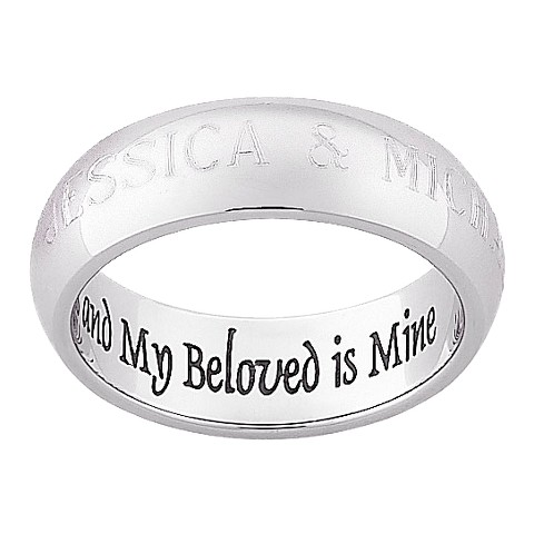 """My Beloved"" Stainless Steel Ring"