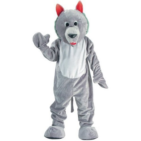 Adult Hungry Wolf Mascot Costume - One Size Fits Most