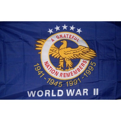World War II Commemorative Flag - 3x4'