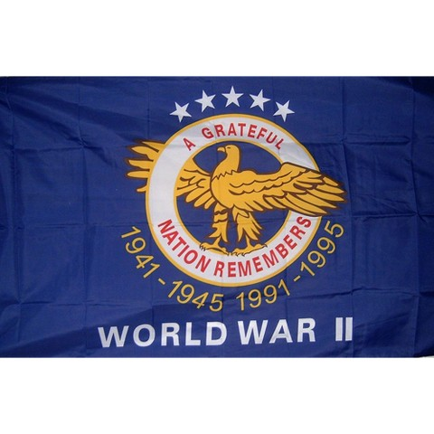 World War II Commemorative Flag - 3x4'