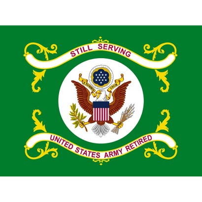 Armed Forces Flag - US Army Retired - 3' x 4'