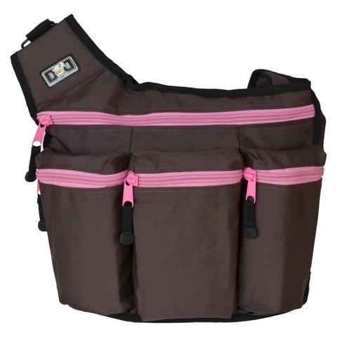 Diaper Dude Diaper Bag - Brown/ Pink