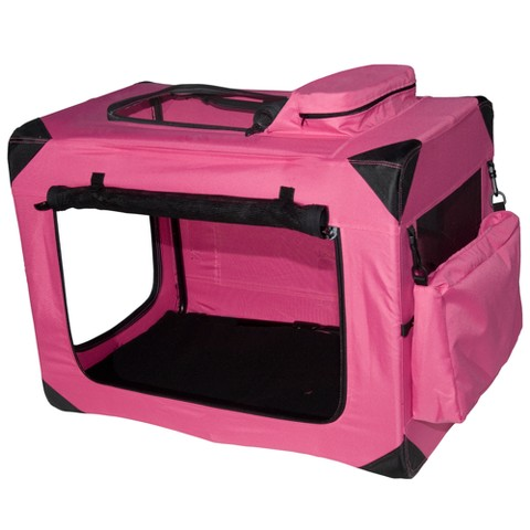 Pink Deluxe Portable Soft Crate