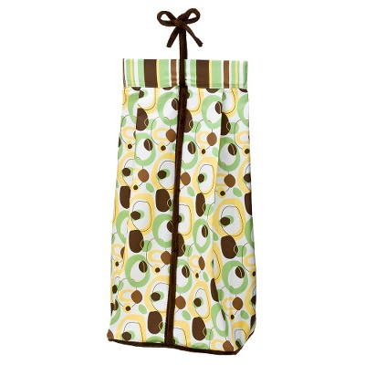 Trend Lab Sage/Brown Giggles Diaper Stacker