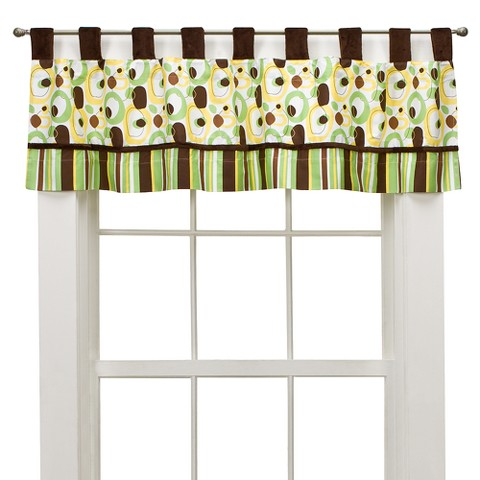 Trend Lab Sage/Brown Giggles Window Valance