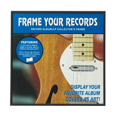 Record Album Frames Set of 4 - Black 12.5x12.5