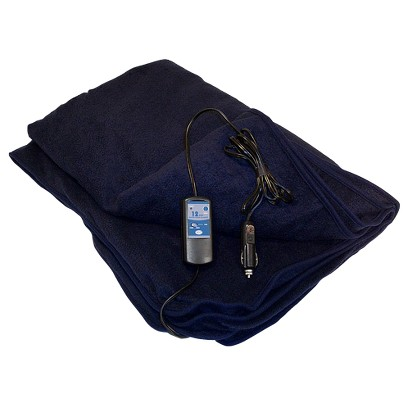 Trillium Car Cozy 12-Volt Heated Blanket - Navy