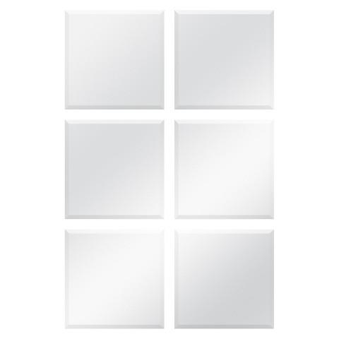 Frameless Bevelled Mirror Tiles