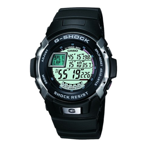 Casio Men's Digital Sports Watch - Black/Silver - G7700-1