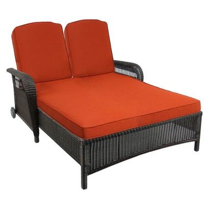 Threshold™ Threshold™ Madaga Wicker Patio Double Chaise Lounge - Orange