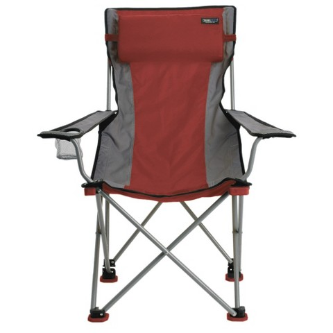 Travel Chair - Red/ Gray