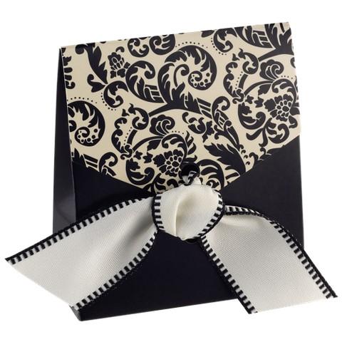 Black & Ivory Tent Favor Boxes - 50ct