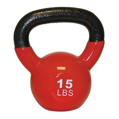 GoFit Kettlebell with Core DVD - Red (15 lbs.)