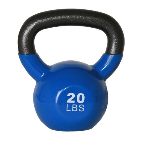 GoFit Kettlebell with Core DVD - Blue (20 lbs.)