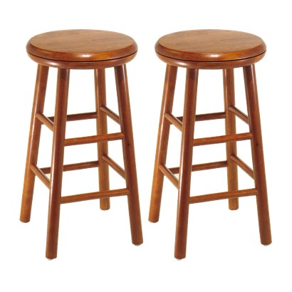 2 Pk Swivel Seat Stool - Cherry