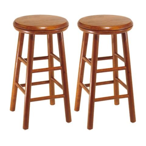 Swivel Seat Stool - Cherry  (Set of 2 )
