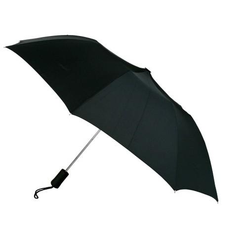 Totes Eco Friendly Fabric Umbrella - Black